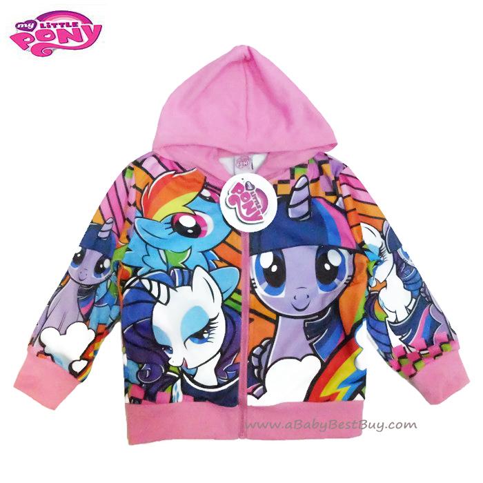 ฮ (สำหรับเด็ก4-6-8-10 ปี) Jacket My Little Pony for Girl เสื้อแจ็คเก็ต เสื้อกันหนาว เด็กผู้หญิง สีม่วง สกรีนลาย มายลิตเติ้ลโพนี่ รูดซิป มีหมวก(ฮู้ด) ใส่คลุมกันหนาว กันแดด ใส่สบาย ลิขสิทธิ์ฮาสโบแท้ โพนี่แท้