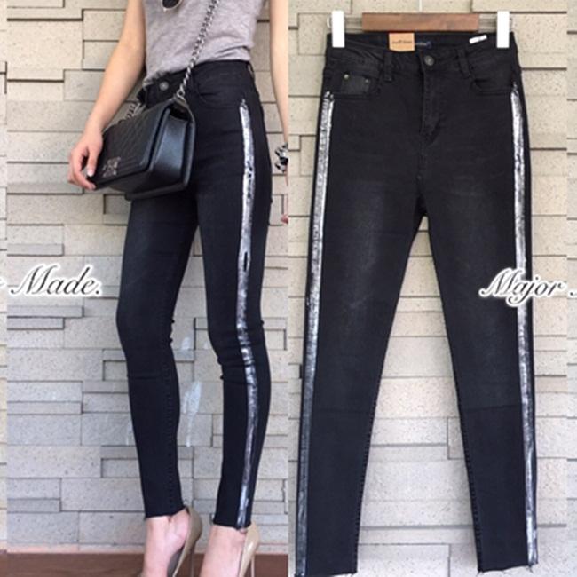 กางเกงแฟชั่น กางเกงยีนส์ขายาว งาน ZARA ผ้ายีนส์ยืดเนื้อหนา