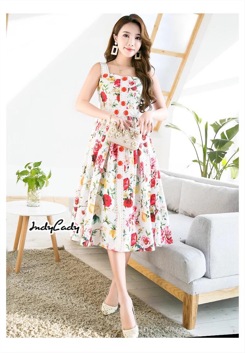 เดรสแฟชั่น Dress งานสายเดี่ยว สีสวยสดใสเนื้อผ้า Polyester ผสมอย่างดี ทรงสวย