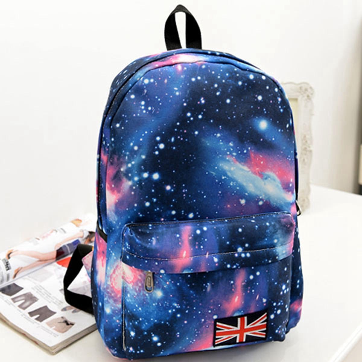 [พร้อมส่ง] กระเป๋าเป้ลายกาแล็คซี่ สีน้ำเงิน