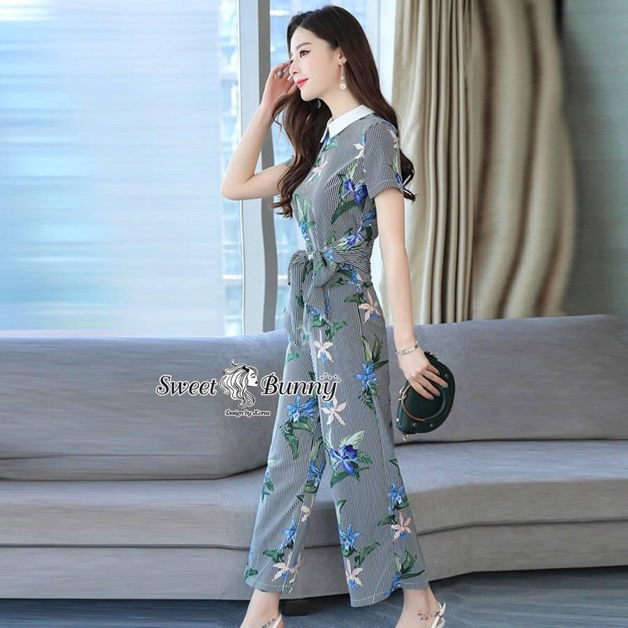 ชุดเซทแฟชั่น ชุดเซ็ทเสื้อ+กางเกงเกาหลี เนื้อผ้านุ่มมีน้ำหนักใส่สบาย
