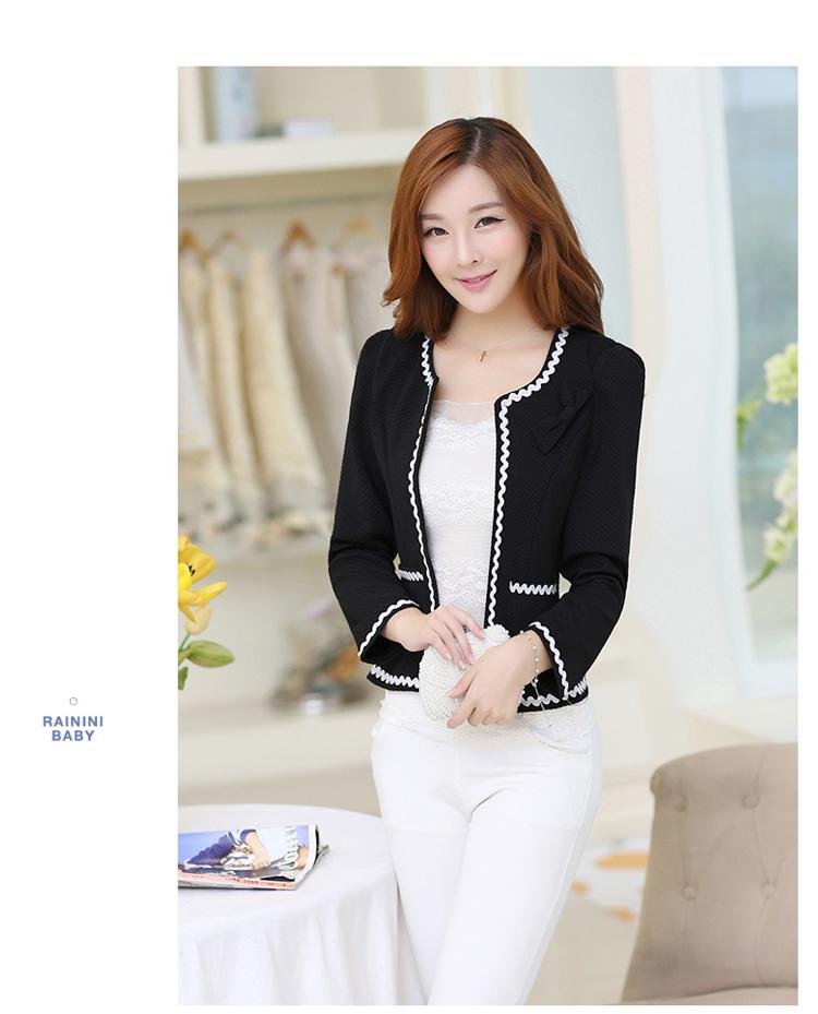 เสื้อคลุมพิธีการ สไตล์เกาหลี สีดำ ใส่ทำงานได้สวยหวาน-5size (S,M,L,XL,2XL)
