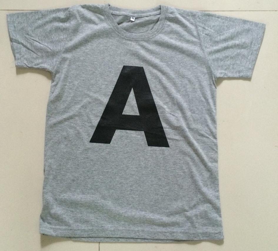 เสื้อตัวอักษร ภาษาอังกฤษ alphabet A-Z ตัวใหญ่เดี่ยว--2