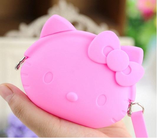 กระเป๋าใส่เศษสตางศ์ใบเล็ก ฮัลโหลคิตตี้ Hello Kitty ขนาดยาว ซม. x สูง ซม.