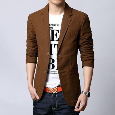 Pre Order เลื้อแจ็คเก็ตผู้ชายเกาหลี คอปกแขนยาว ดีไซน์กระดุม2เม็ดและมีกระเป๋าข้างขอบแต่งลายสก๊อต มี3สี