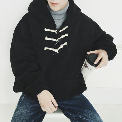 เสื้อฮู้ดแจ็คเก็ตเกาหลี แต่งสายกระดุมคาด ดีไซน์กระเป๋าเสื้อ มี2สี