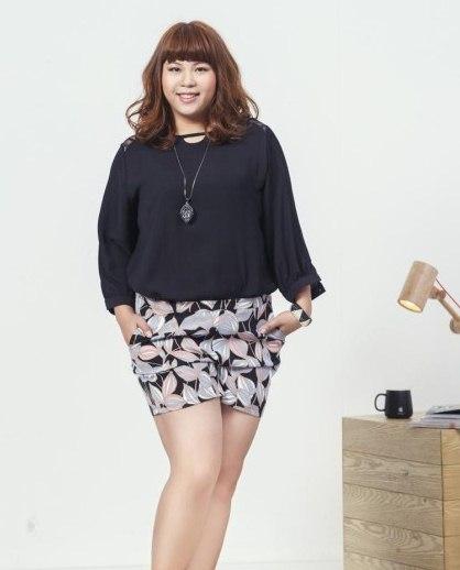 PreOrderไซส์ใหญ่ - ชุดเซตคู่เสื้อ กางเกงขาสั้น ไซส์ใหญ่ คนอ้วน เสื้อชีฟองแขนยาว กางเกงขาสั้นผ้าฝ้ายพิมพ์ลาย
