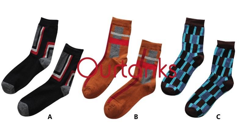 S369**พร้อมส่ง** (ปลีก+ส่ง) ถุงเท้าแฟชั่นเกาหลี ชาย ข้อยาว เนื้อดี งานนำเข้า(Made in china)
