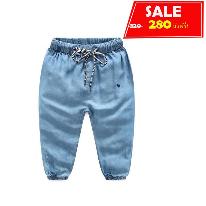 กางเกงขาจั๊มสียีนส์ #ผ้านิ่มพริ้ว #สียีนส์