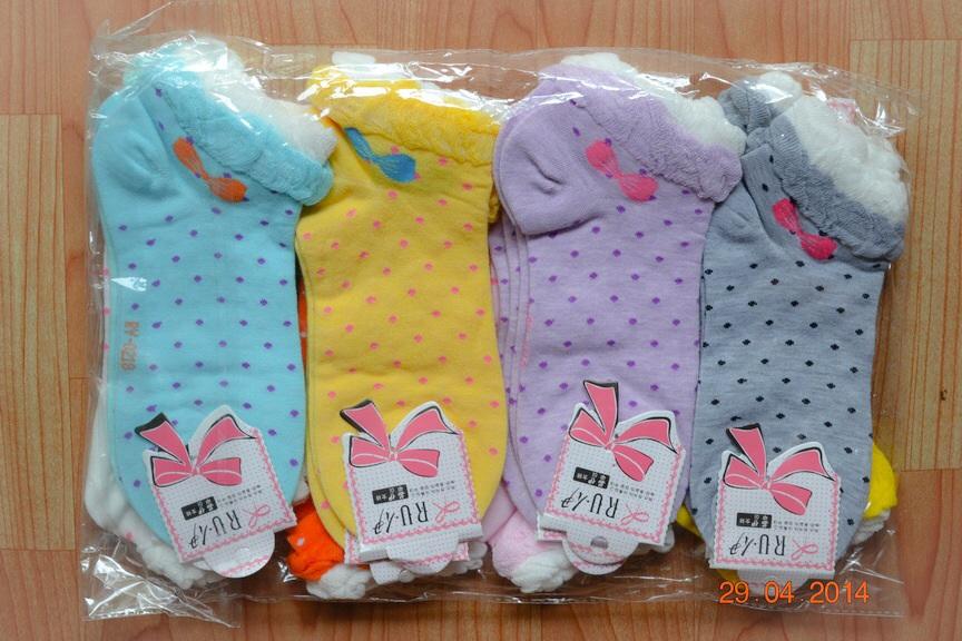S203**พร้อมส่ง** (ปลีก+ส่ง) ถุงเท้าแฟชั่นเกาหลี ข้อสั้น เนื้อดี งานนำเข้า(Made in China)