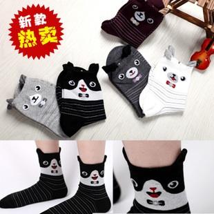 A041**พร้อมส่ง**(ปลีก+ส่ง) ถุงเท้าแฟชั่นเกาหลี ข้อสูง มีหู มี 5 แบบ เนื้อดี งานนำเข้า( Made in Korea)