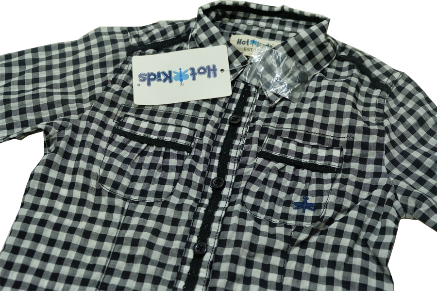(HKSG 347) เสื้อเชิ้ตเด็กลายสก็อต