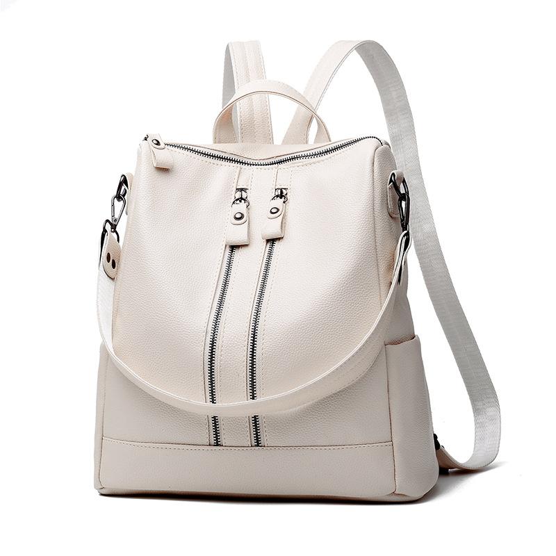 พร้อมส่ง กระเป๋าเป้สะพายหลัง และปรับสะพายข้างผู้หญิง เป้นักเรียนแฟชั่นเกาหลี รหัส KO-558 สีขาว 1 ใบ