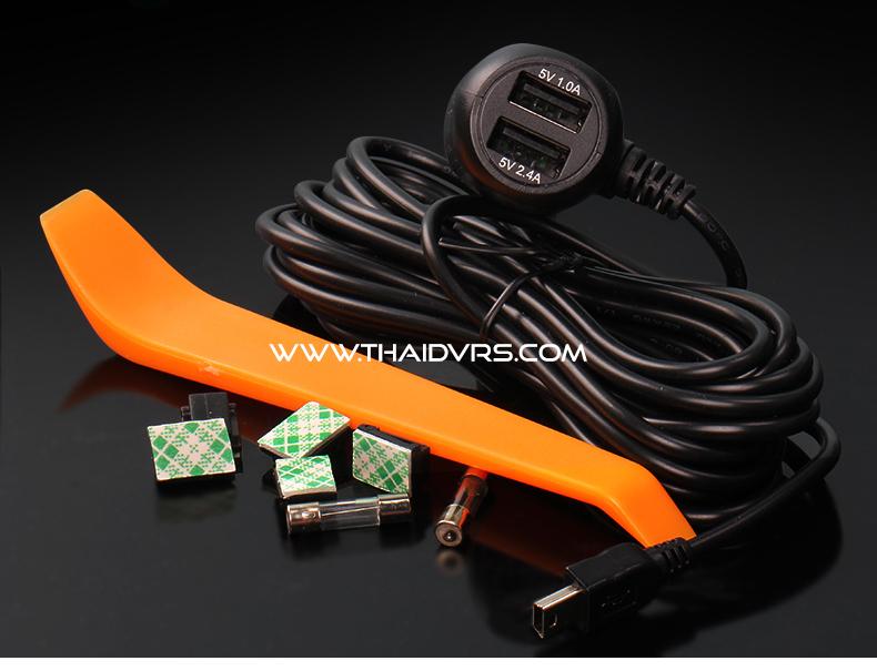 สายชาร์จ Mini + MicroUSB + 2 USB 3.4A