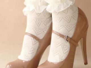 ถุงเท้าขอบลูกไม้