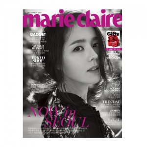 นิตยสารMARIE CLAIRE 2016.12 TYPE A - HAN GA-IN, KANG SO-YOUNG