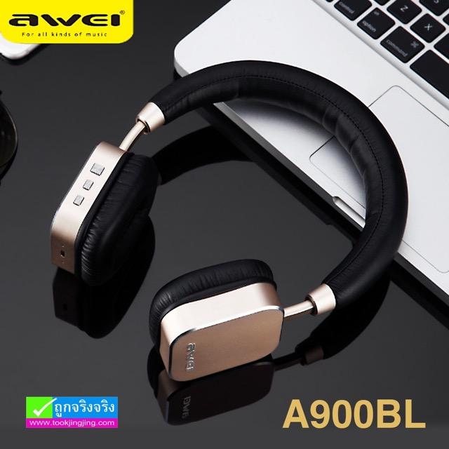 หูฟัง บลูทูธ AWEI A900BL Wireless Stereo Headphones ราคา 1,280 บาท ปกติ 3,375 บาท
