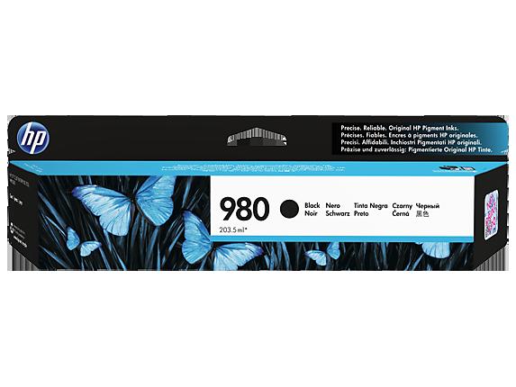 HP 980 ตลับหมึกอิงค์เจ็ท สีดำ ของแท้ Black Original Ink Cartridge (D8J10A)