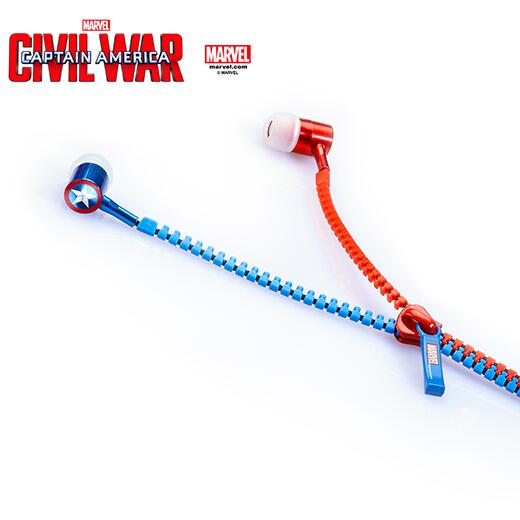 หูฟัง Ear-Plug กัปตัน อเมริกา ศึกฮีโร่ระห่ำโลก Captain America: Civil War(ของแท้ลิขสิทธิ์)