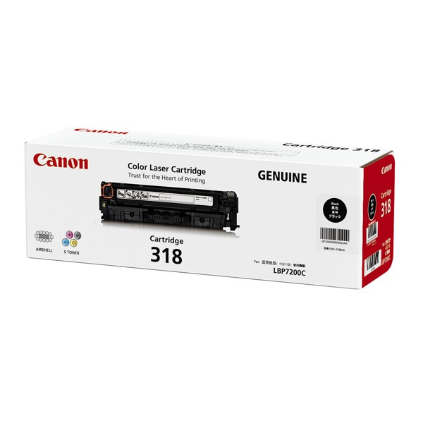 Canon Cartridge-318BK ตลับหมึกโทนเนอร์ สีดำ Black Toner Original Cartridge