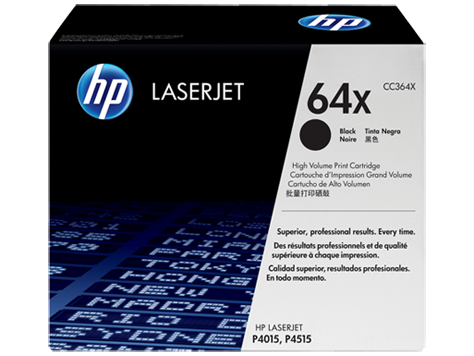 HP 64X ตลับหมึกโทนเนอร์ สีดำ Black Original Toner Cartridge (CC364X)