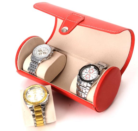 กล่องใส่นาฬิกา แบบพกพา ทรงกลม