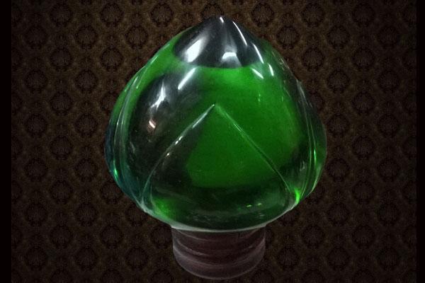 แก้วนาคาสัญฐานดอกบัว (เขียว)