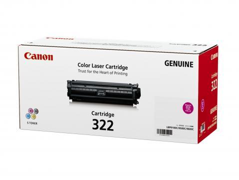 Canon Cartridge-322M ตลับหมึกโทนเนอร์ สีม่วงแดง Magenta Original Toner Cartridge