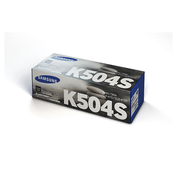 Samsung CLT-K504S ตลับหมึกโทนเนอร์ สีดำ Black Original Toner Cartridge (SU160A)