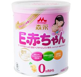 Hagukumi E-Akachan นมผงสำหรับเด็กอายุ 0-1ปีจากญี่ปุ่นผสมDHAเป็นสูตรใกล้เคียงนมแม่เสริมสร้างการเจริญเติบโตของลูกน้อยรุ่นโปรตีนโมเลกุลต่ำดูดซึมได้ง่ายย่อยง่ายเสริมสร้างภูมิคุ้มกันให้ลูกน้อยแข็งแรง