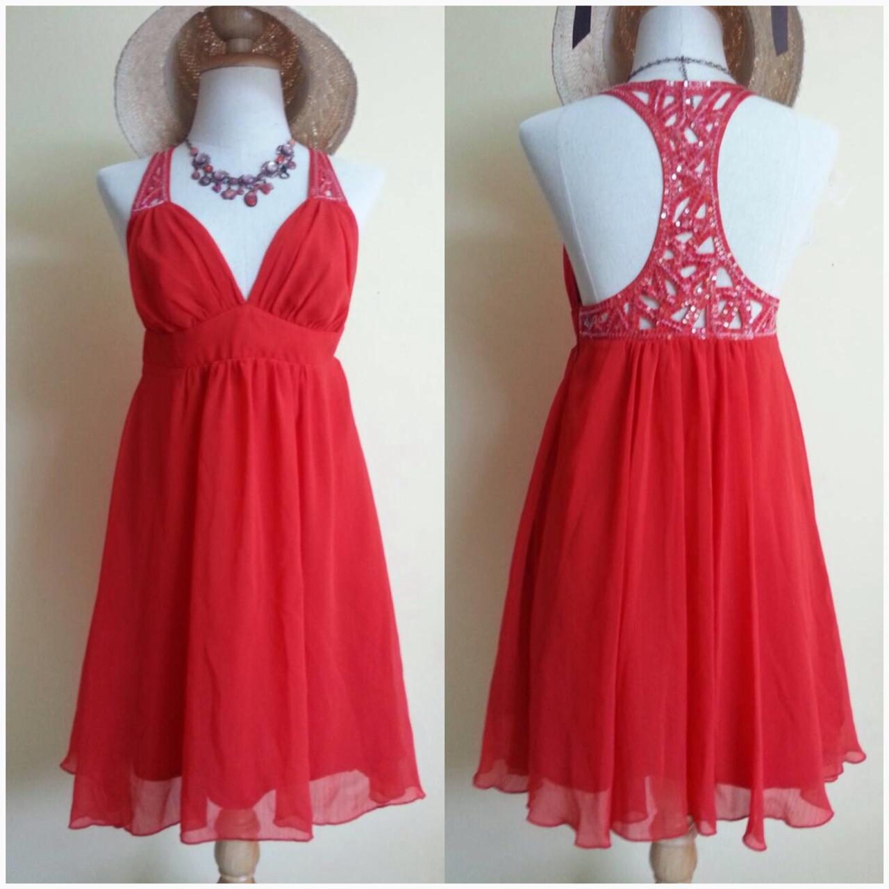 Lipsy Red Dress Uk10
