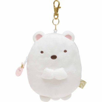 กระเป๋าใส่เหรียญยืดได้ Sumikko Gurashi หมีขาว