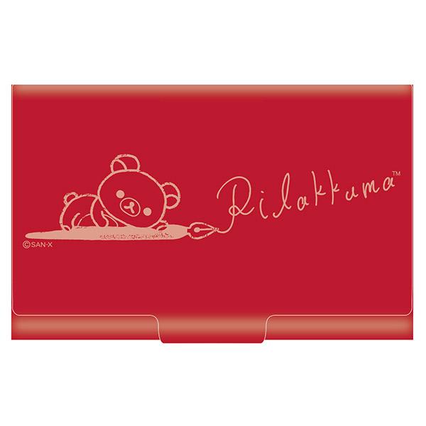 กล่องใส่นามบัตร Rilakkuma สีแดง 2