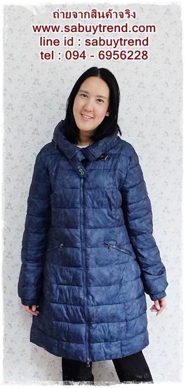 ((ขายแล้วครับ))((คุณนิตยาจองครับ))ca-2605 เสื้อโค้ทกันหนาวผ้าร่มสีกรมท่า รอบอก44