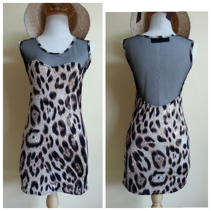 New Look Parisian Limited Edition Leopard Print Dress Size S